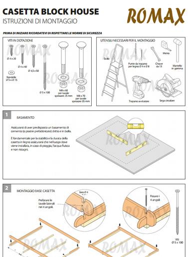Istruzioni di montaggio