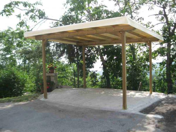 tettoia indipendente leggera misure cm 400x300 in legno di pino autoclave copertura con telo pvc