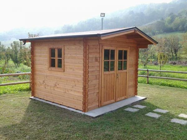 Casetta in legno da giardino mod. Block House